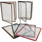 "Omcan 39796 9.5"" x 11.75"" Red Double-Fold Menu Holder"