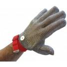 Omcan 13557 Red Wrist Strap Medium Mesh Glove