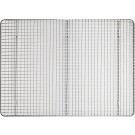 """Winco PGWS-1216 12"""" X 16-1/2"""" Stainless Steel Pan Grate for Half-size Sheet Pan"""