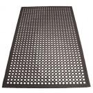 "Winco RBM-35K 3' x 5' x 1/2"" Beveled Edges Black Rubber Floor Mat"