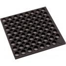 """Winco RBMH-35K 3' x 5' x 3/4"""" Straight Edges Anti-fatigue Black Rubber Floor Mat"""