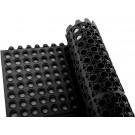Winco RBMI-33K 3' x 3' Interlocking Black Rubber Floor Mat