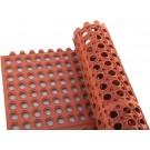 Winco RBMI-33R 3' x 3' Interlocking Red Rubber Floor Mat