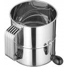 Winco RFS-8 8 Cup Stainless Steel Rotary Sifter