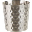 """Winco SFC-35H Satin Finish Solid 3.25"""" Dia. X 3.5"""" H Stainless Steel Hammered Fry Cup"""
