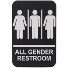 "Winco SGNB-607 Braille ""All Gender Restroom"" Information Sign"
