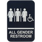 """Winco SGNB-608 Braille """"All Gender Restroom with Accessible"""" Information Sign"""
