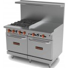 Sierra Range SR-4B-24G-48 Gas Range with Griddle