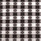 "Winco TBCO-70K 52"" x 70"" Oblong Black Table Cloth"
