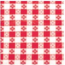 """Winco TBCO-70R 52"""" x 70"""" Oblong Red Table Cloth"""