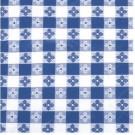 "Winco TBCS-52B 52"" x 52"" Square Blue Table Cloth"