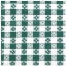 """Winco TBCS-52G 52"""" x 52"""" Square Green Table Cloth"""