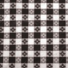 "Winco TBCS-52K 52"" x 52"" Square Black Table Cloth"