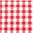 """Winco TBCS-52R 52"""" x 52"""" Square Red Table Cloth"""