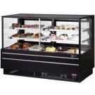 "Turbo Air TCGB-72UF-CO-B-N Black European Straight Front 72"" Combo Bakery Case"