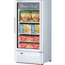 "Turbo Air TGF-10SDW-N White Super Deluxe Series 25"" Swing Glass Door Merchandiser Freezer"