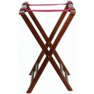 "Winco TR-33W 32""H Walnut Folding Tray Stand"