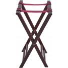 """Winco TR-34W 32""""H Mahogany Folding Tray Stand"""