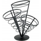 Winco WBKH-10 Black Wire 3 Cone French Fry Holder