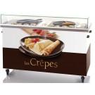 Krampouz KCEA02 Commercial Double Crepe Maker Cart