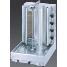 Visvardis DG12V 130-145 lbs. Gas Gyro and Shawarma Machine