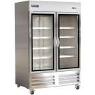 "Ikon IB54RG 54"" Reach-In Double Glass Door Refrigerator"