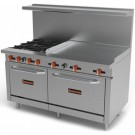 "Sierra Range SR-4B-36G-60 4 Open Burners with 36"" Griddle Section"