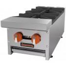 "Sierra Range SRHP-2-12 12"" Gas Hotplate with 2 Burners & Manual Controls"