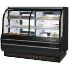 "Turbo Air TCGB-72CO-B-N Black Refrigerated & Dry Combination 6"" Bakery Case"
