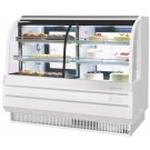 "Turbo Air TCGB-60CO-W-N White Refrigerated & Dry Combination 5"" Bakery Case"