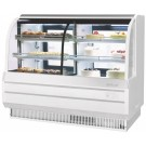 "Turbo Air TCGB-72CO-W-N White Refrigerated & Dry Combination 6"" Bakery Case"