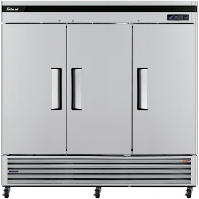 "Turbo Air TSR-72SD-N Super Deluxe Series 81"" Solid Door Reach-in Refrigerator"